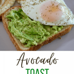 avocado toast with pinterest text