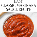 marinara sauce in bowl