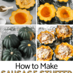pictures of how to make stuffed sausage acorn squash